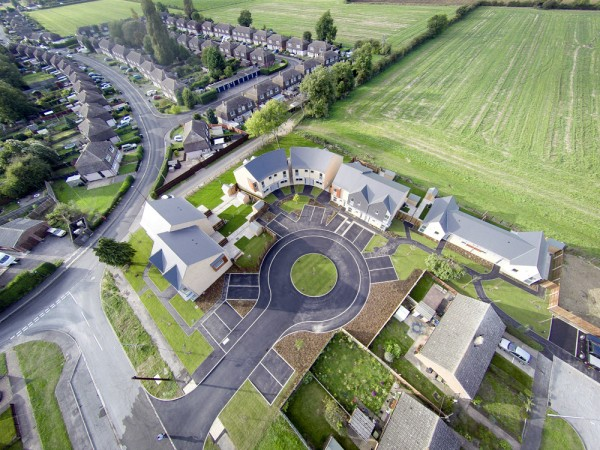 Ruskington Housing Aerial View